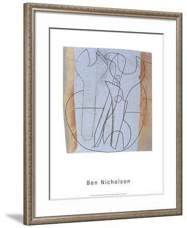 Three Spanners and Four Holes, c.1973-Ben Nicholson-Framed Serigraph
