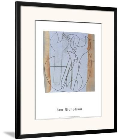 Three Spanners and Four Holes, c.1973-Ben Nicholson-Framed Art Print