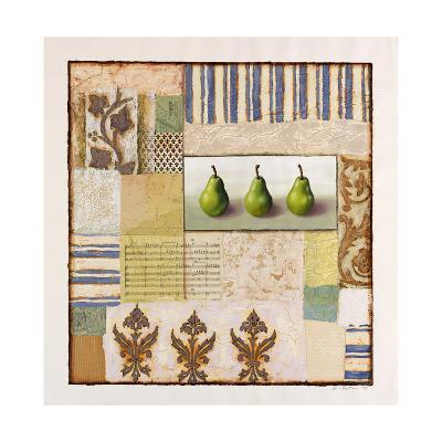 Three Standing Pears-Rachel Paxton-Giclee Print