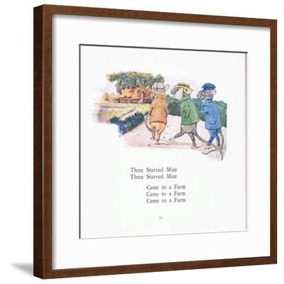 Three Starved Mice, Three Starved Mice, Come to a Farm-Walton Corbould-Framed Giclee Print