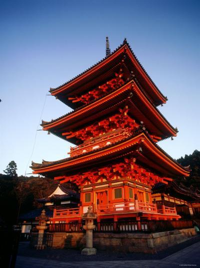 Three-Story Pagoda of Kiyomizu Temple (Kiyomizudera), Kyoto, Japan,--Photographic Print