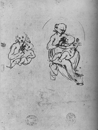 'Three Studies of a Madonna and Child', c1475 (1945)-Leonardo da Vinci-Giclee Print
