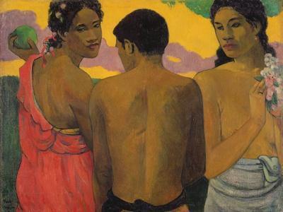 Three Tahitians, 1899-Paul Gauguin-Giclee Print