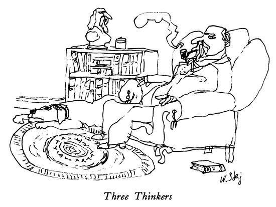 Three Thinkers - New Yorker Cartoon-William Steig-Premium Giclee Print