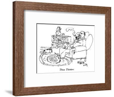 Three Thinkers - New Yorker Cartoon-William Steig-Framed Premium Giclee Print