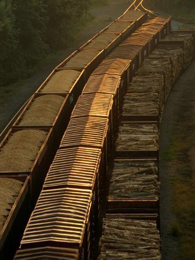 Three Trains Run on Parallel Tracks-Medford Taylor-Photographic Print