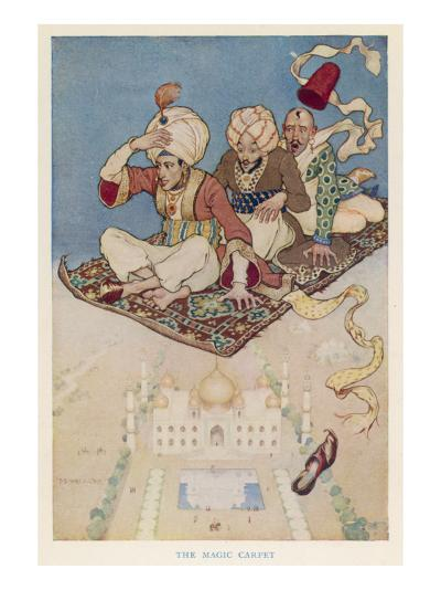 Three Travellers on a Magic Carpet--Giclee Print