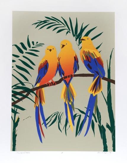 Three Tropical Birds-Anne Nipper-Limited Edition