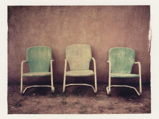 Three Turquoise Chairs-Jennifer Kennard-Photographic Print