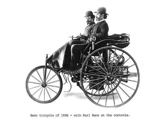 Three-wheeled Benz motor car, 1886. Artist: Unknown-Unknown-Photographic Print
