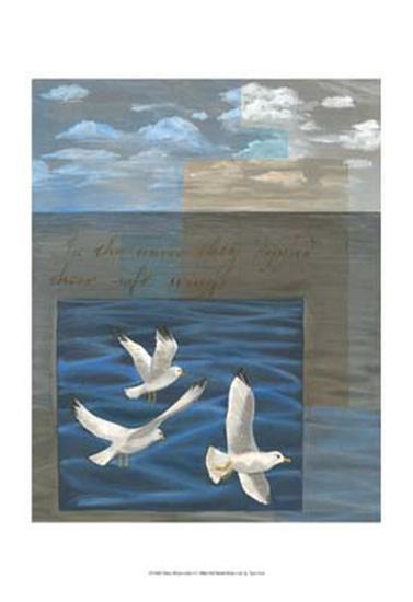 Three White Gulls I-Tara Friel-Art Print
