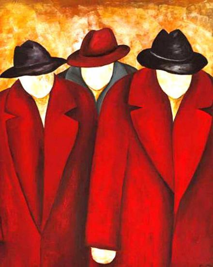 Three Wise Man I-Gisela Ueberall-Art Print