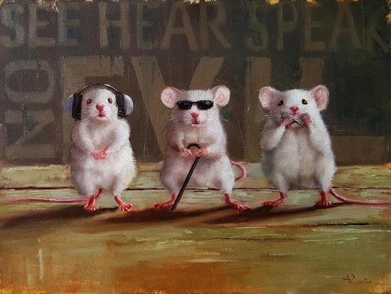 Three Wise Mice-Lucia Heffernan-Art Print