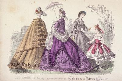 Three Women and a Child Wearing the Latest Fashions, 1864-Rigolet Rigolet-Giclee Print