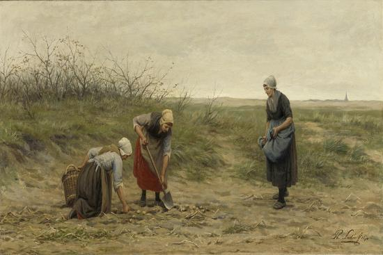 Three Women Farm Potatoes-Philip Sadee-Art Print