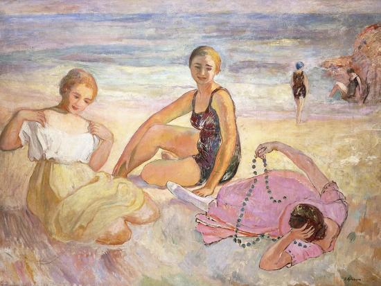 Three Women on the Beach; Trois Femmes a La Plage-Henri Lebasque-Giclee Print