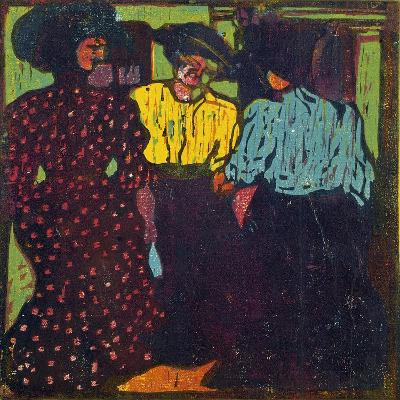 Three Women Talking, 1907-Ernst Ludwig Kirchner-Giclee Print