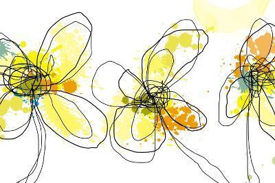 Three Yellow Flowers-Jan Weiss-Art Print