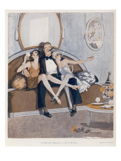 Threesome on the Sofa--Giclee Print