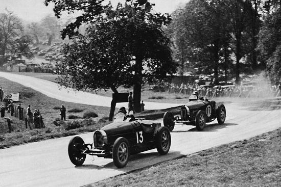'Thrilling racing in rural England: Bugattis at Donington', 1937-Unknown-Photographic Print