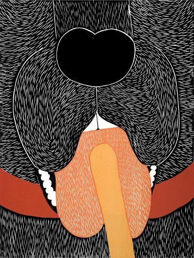 Throat Exam Black-Stephen Huneck-Giclee Print