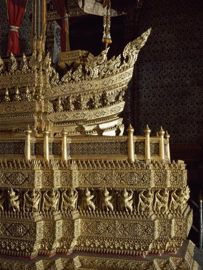 Throne, Detail of Decoration, Grand Palace, Bangkok, Thailand--Giclee Print