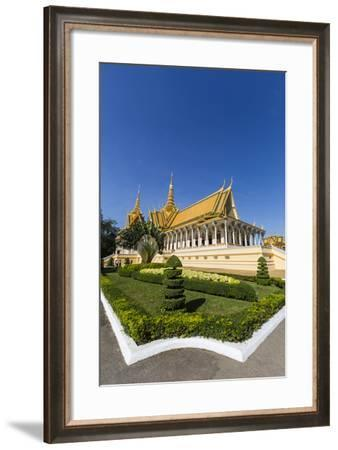 Throne Hall, Royal Palace, in the Capital City of Phnom Penh, Cambodia, Indochina-Michael Nolan-Framed Photographic Print