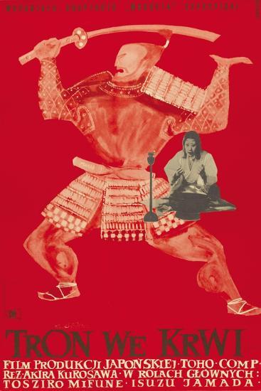 Throne of Blood (aka Tron we Krwi), Isuzu Yamada, Polish poster art, 1957--Art Print