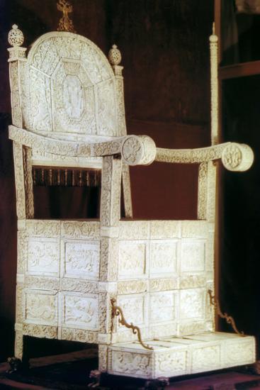 Throne of Tsar Ivan the Terrible, 16th Century--Photographic Print