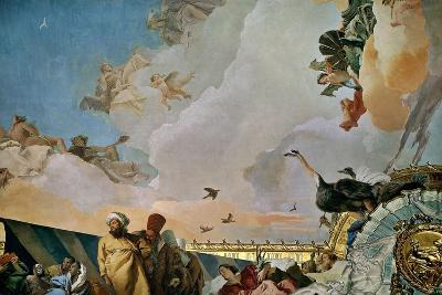Throne Room: the Glory of Spain, Allegory of Africa, 1762-1766-Giovanni Battista Tiepolo-Giclee Print