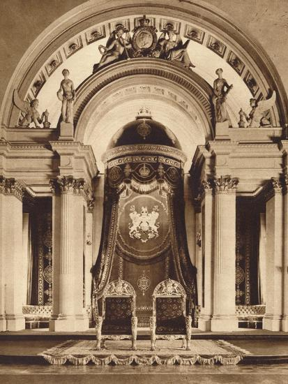 Thrones in the ballroom at Buckingham Palace, 1935-Unknown-Photographic Print