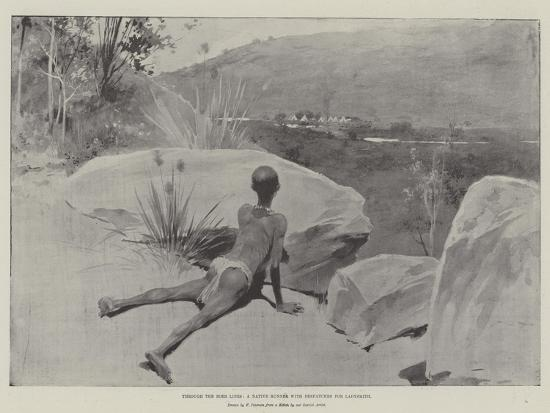 Through the Boer Lines, a Native Runner with Despatches for Ladysmith--Giclee Print