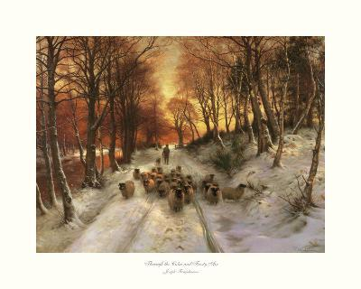 Through the Calm and Frosty Air-Joseph Farquharson-Art Print