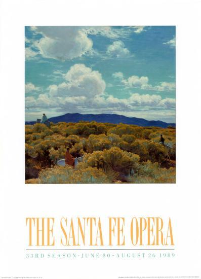 Through the Chamisa, Santa Fe Opera, 1989-E^ Martin Hennings-Art Print