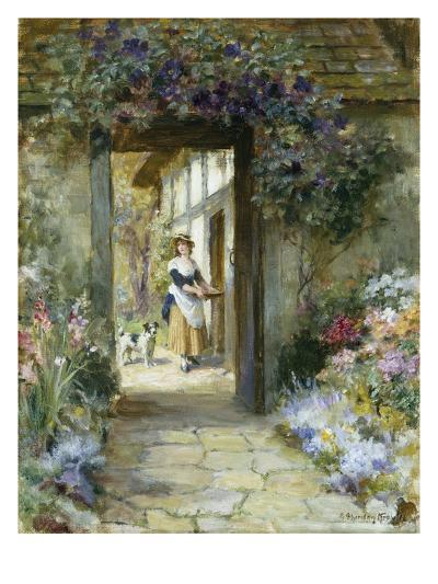 Through the Garden Door-George Sheridan Knowles-Giclee Print