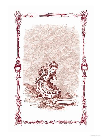 Through the Looking Glass: The Drums Began-John Tenniel-Art Print