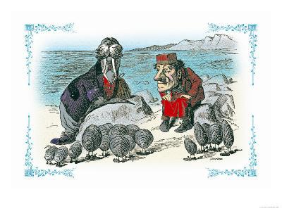 Through the Looking Glass: Walrus, Carpenter and Oysters-John Tenniel-Art Print