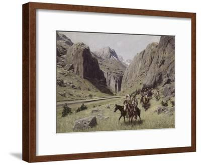 Through the Mountains-Henry F. Farny-Framed Giclee Print