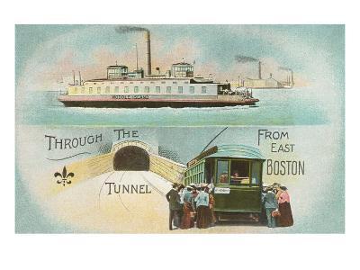 Through the Tunnel, East Boston, Mass.--Art Print