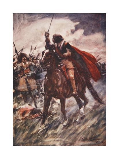 Through their Ranks Rode Wallenstein-Arthur C. Michael-Giclee Print