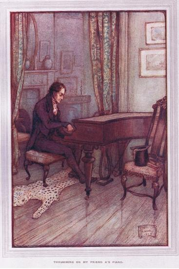 Thrumming on My Friend A's Piano-Sybil Tawse-Giclee Print