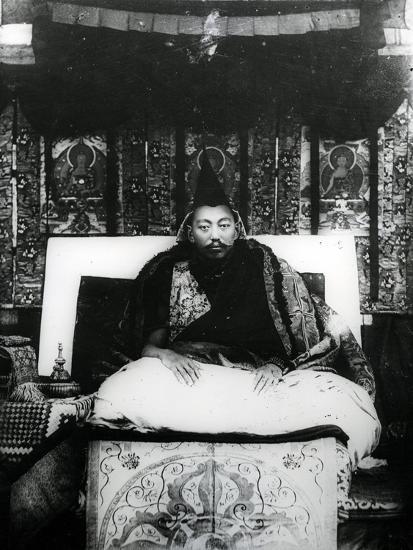 Thubten Gyatso, 13th Dalai Lama of Tibet. C.1908-21--Photographic Print