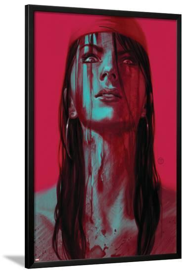 Thuderbolts #11 Cover: Elektra-Julian Totino Tedesco-Lamina Framed Poster