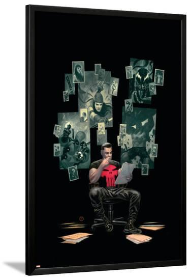 Thuderbolts #12 Cover: Punisher, Venom, Elektra, Deadpool, Red Hulk-Julian Totino Tedesco-Lamina Framed Poster