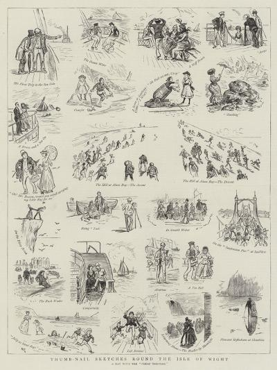 Thumb-Nail Sketches Round the Isle of Wight--Giclee Print
