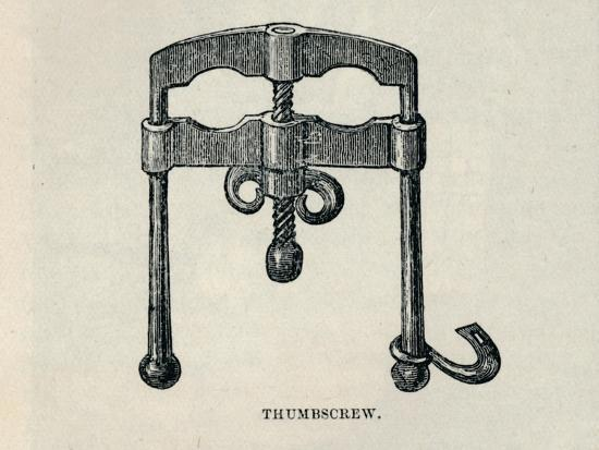 Thumbscrew, 1905-Unknown-Giclee Print