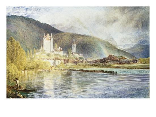 Thun, Switzerland-Alfred William Hunt-Giclee Print