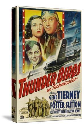 Thunder Birds, Clockwise from Left: Gene Tierney, Preston Foster, John Sutton, 1942