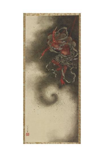 Thunder God, Edo Period, 1847-Katsushika Hokusai-Giclee Print