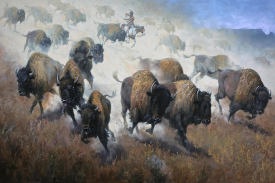 Thunder in the Dust-Jack Sorenson-Art Print